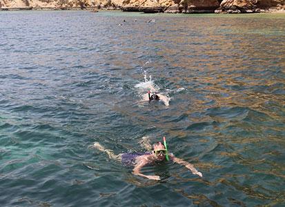 Snorkeling in Oman